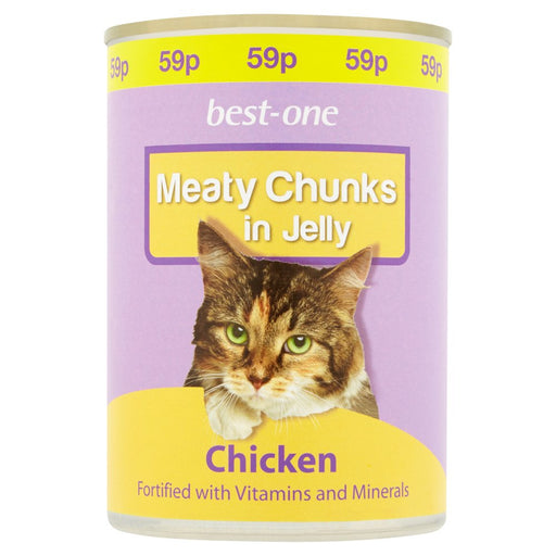 Best-One Meaty Chunks in Jelly Chicken, 400g (Pack of 12)