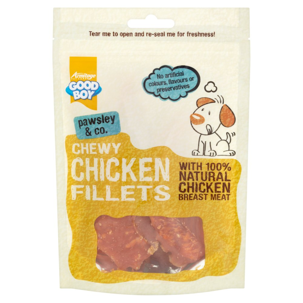 Good Boy Pawsley & Co. Chewy Chicken Fillets, 80g (Pack of 8)