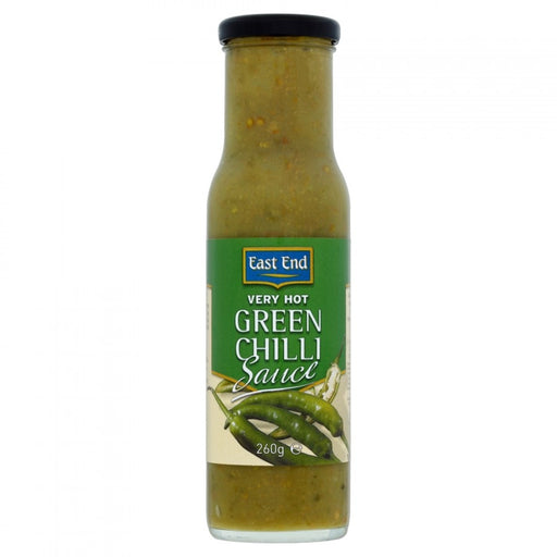 East End Very Hot Green Chilli Sauce 260g (Pack of 6 x 260g)