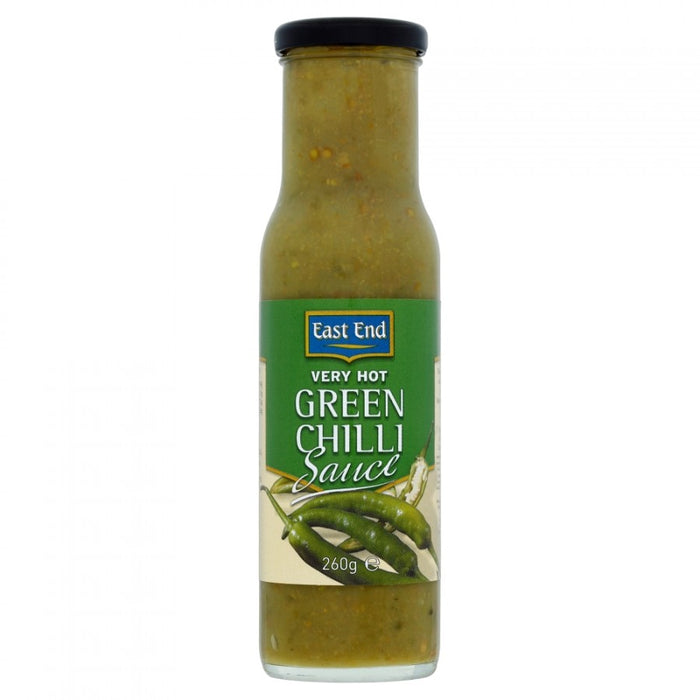 East End Very Hot Green Chilli Sauce 260g (Pack of 6)