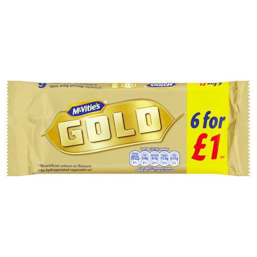 McVitie's 6 Gold Bars, 132g