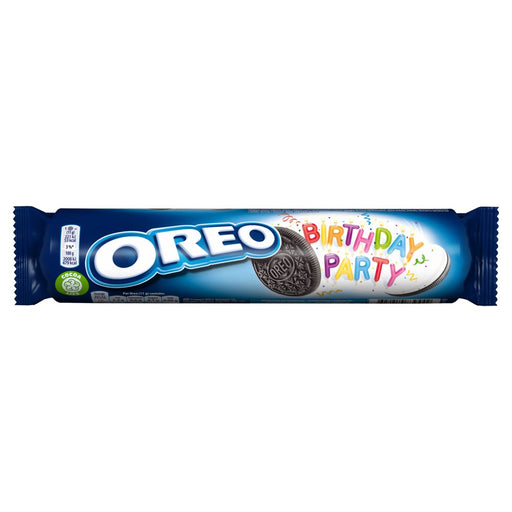 Oreo Birthday Party Sandwich Biscuit, 154g (Box of 16)