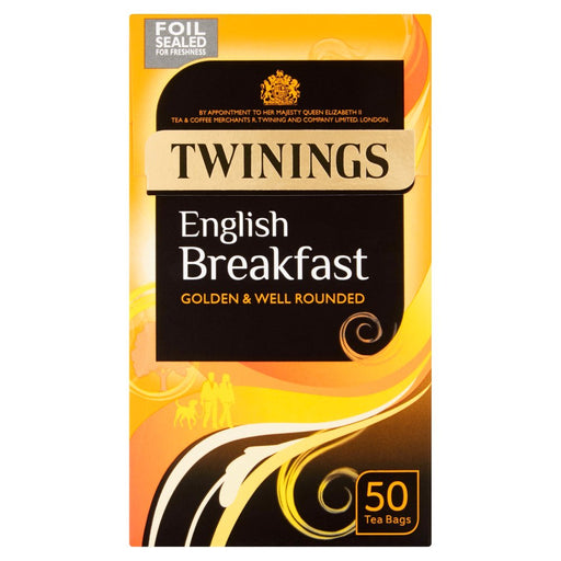 Twinings English Breakfast 50 Tea Bags 125g (Box of 4)