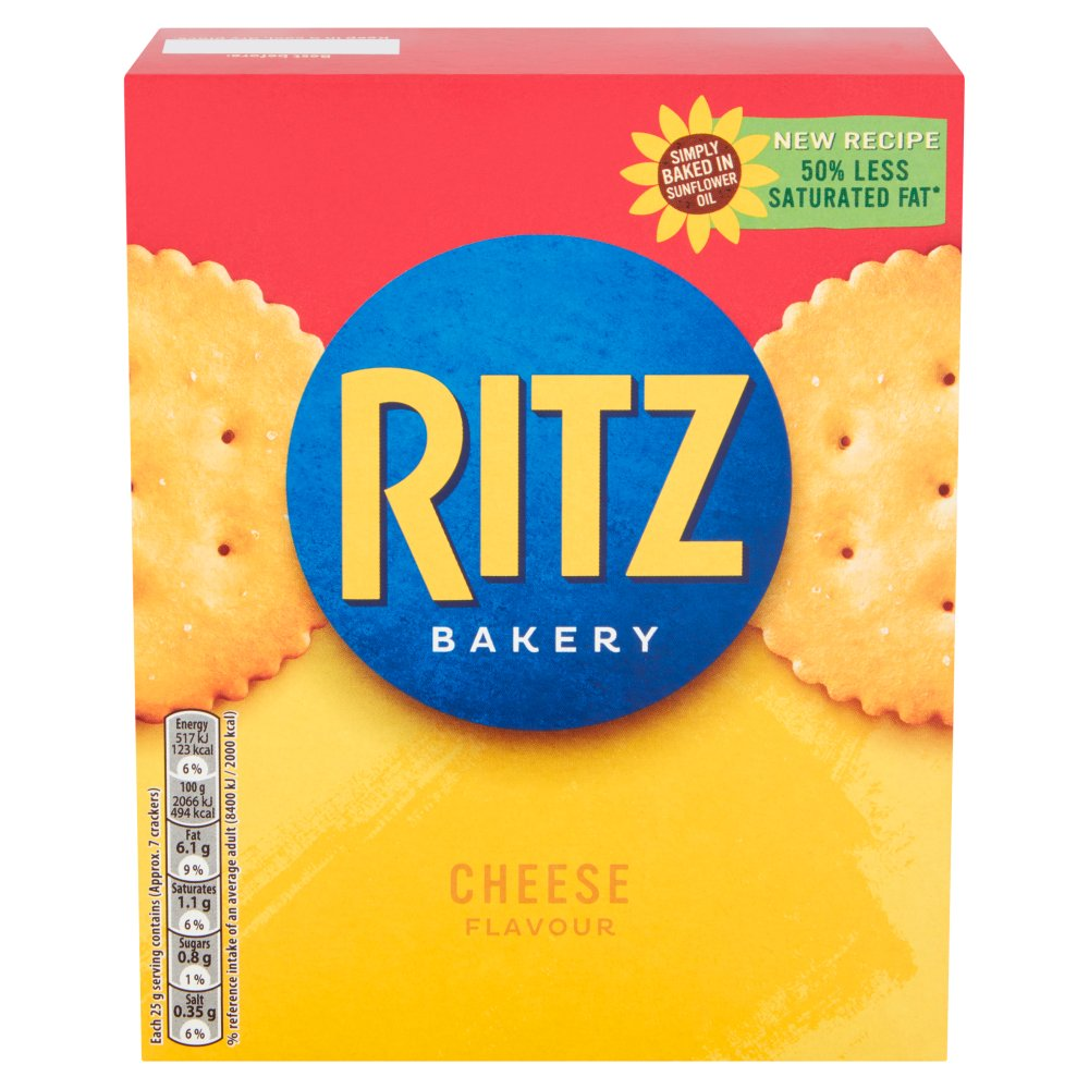 Ritz Cheese Crackers, 200g (Pack of 8)