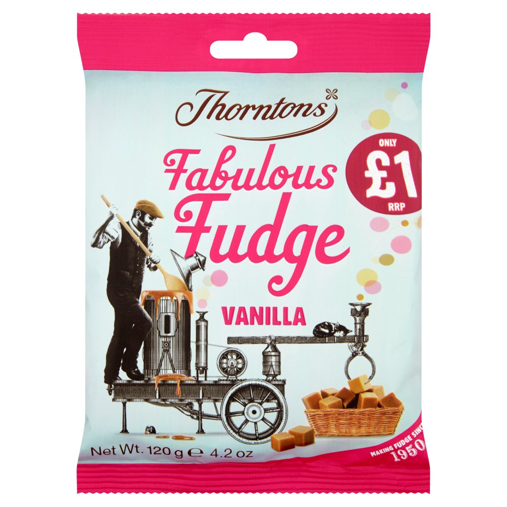Thorntons Fabulous Vanilla Fudge Bag, 120g (Box of 12)