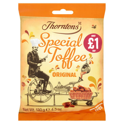 Thorntons Original Special Toffee Bag, 130g (Box of 12)