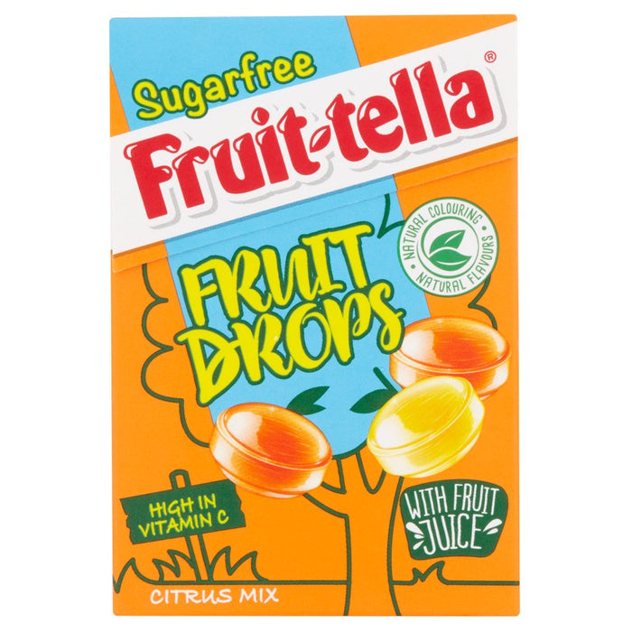 Fruittella Sugar Free Fruit Drops Citrus Mix, 46g (Box of 20)