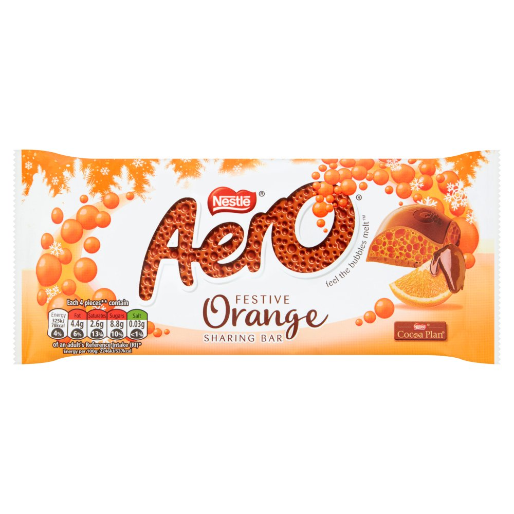 Aero Festive Orange Sharing Bar, 100g (Pack of 5)