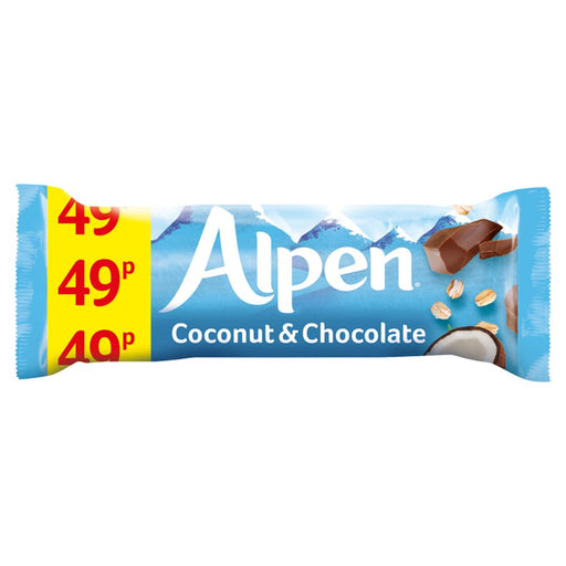 Alpen Cereal Bars Coconut and Chocolate, 29g (Box of 24)