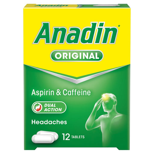 Anadin Original or Paracetamol 12 Tablets, 500mg