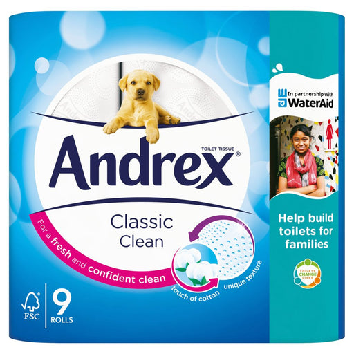 Andrex Classic Clean 9 Toilet Rolls