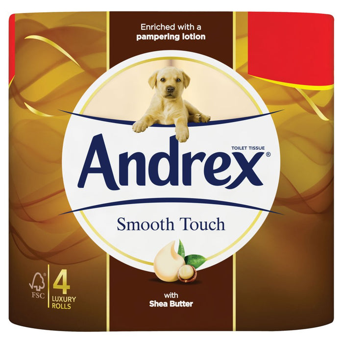 Andrex Smooth Touch Pack of 6 x 4 Rolls (Total 24 Toilet Rolls)