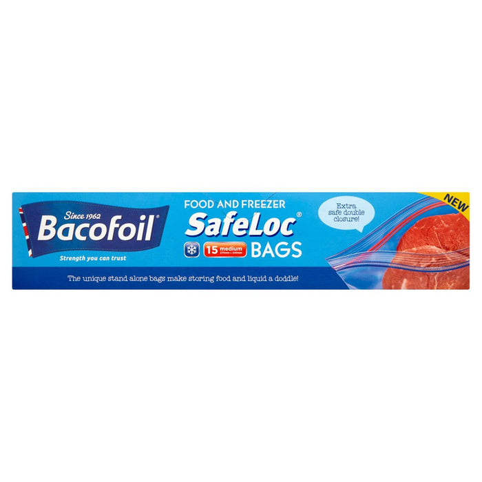 Bacofoil Double-Seal SafeLoc Food and Freezer Bags