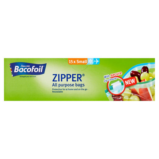Bacofoil Zipper All Purpose Bags 15 x Small