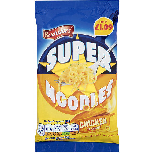 Batchelors Super Noodle Chicken 90g (Box of 8)