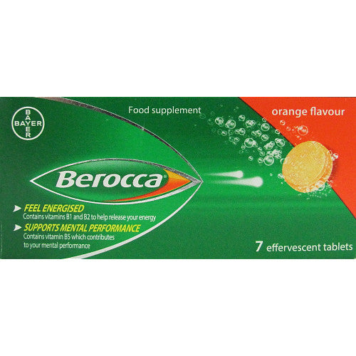 Berocca Orange Flavour 7 Effervescent Tablets