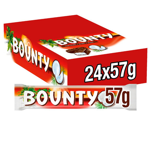 Bounty Coconut Dark Chocolate Twin Bar, 57g (Box of 24)