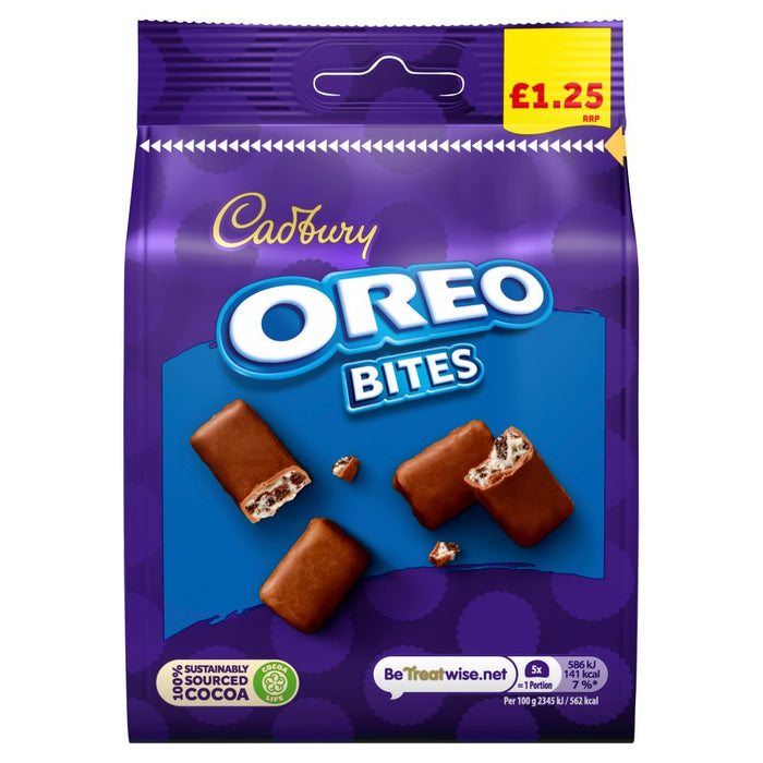 Cadbury Oreo Bites Bag, 95g (Box of 10)