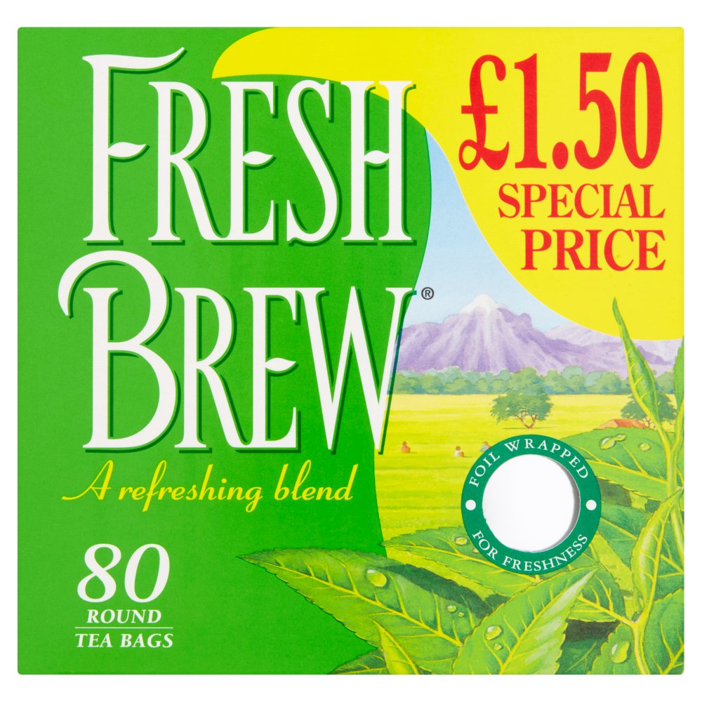 Fresh Brew 80 Round Tea Bags, 232g
