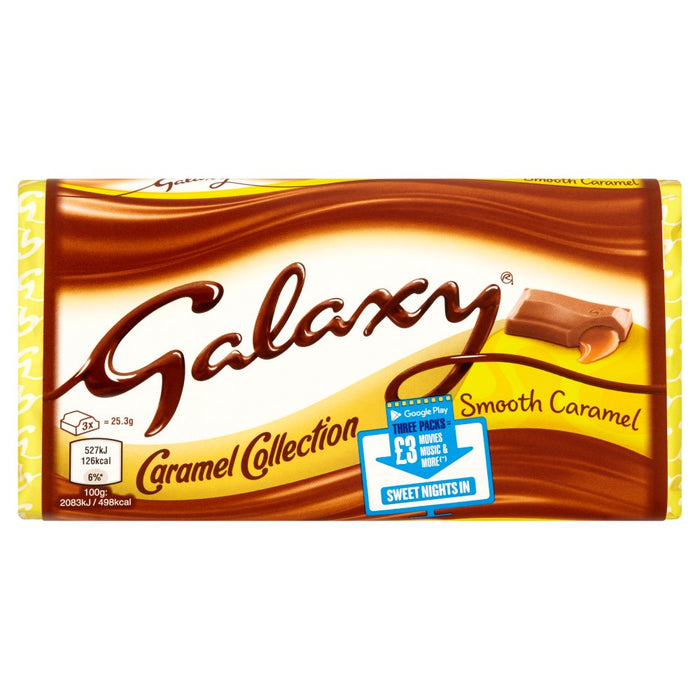 Galaxy Caramel Chocolate Block, 135g (Box of 24)