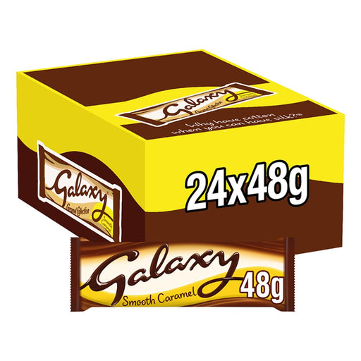 Galaxy Smooth Caramel Chocolate Bar, 48g (Box of 24)