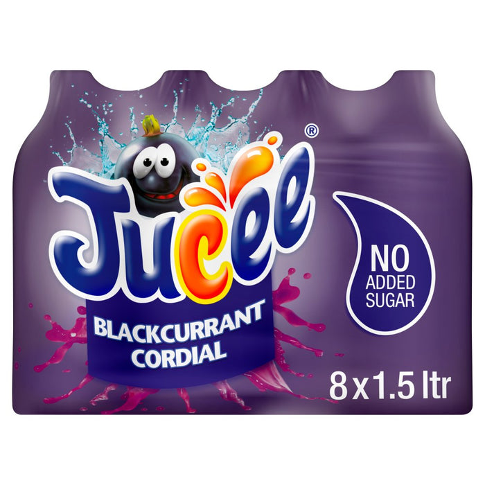 Jucee No Added Sugar Blackcurrant Cordial, 1.5 Ltr (Case of 8)