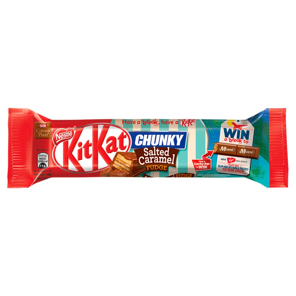 KITKAT Chunky Salted Caramel Fudge Chocolate