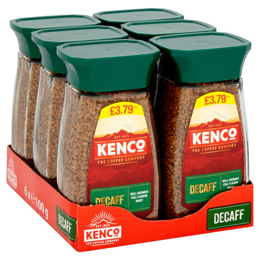 Kenco Decaf Instant Coffee, 100g (Case of 6)