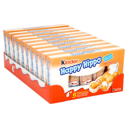 Kinder Happy Hippo Milk Chocolate and Hazelnut Biscuits Multipack 28 x 20.7g (Case of 10)