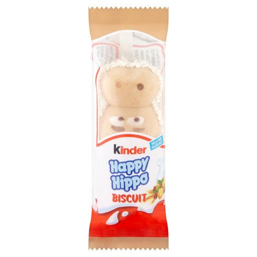 Kinder Happy Hippo Milky Hazelnut Filling Biscuit, 20.7g (Box of 28)