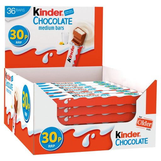 Kinder Chocolate Medium Bar, 21g (Box of 36)