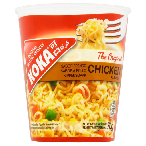 Koka Chicken Oriental Instant Noodles, 70g (Box of 12)