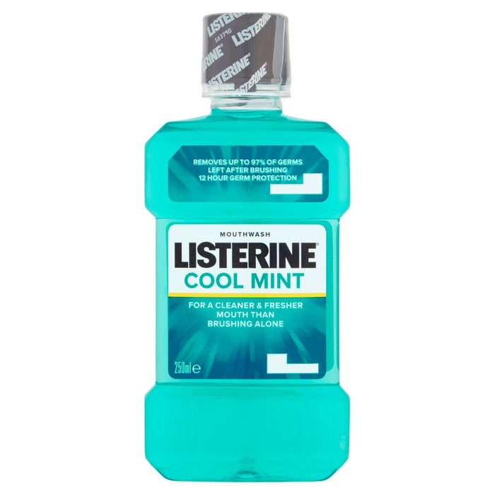 Listerine Cool Mint Mouthwash, 250ml (Case of 6)