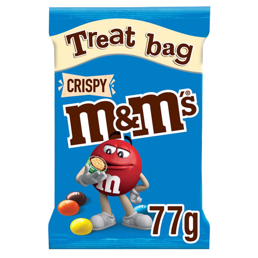M&M's Crispy Chocolate Treat Bag, 77g (Box of 16)