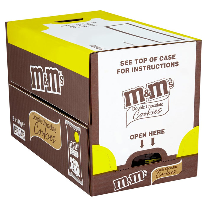 M&M's Double Chocolate Cookies, 144g (Box of 8)