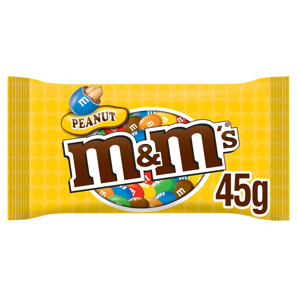 M&M's Peanut Chocolate Bag, 45g (Box of 24)