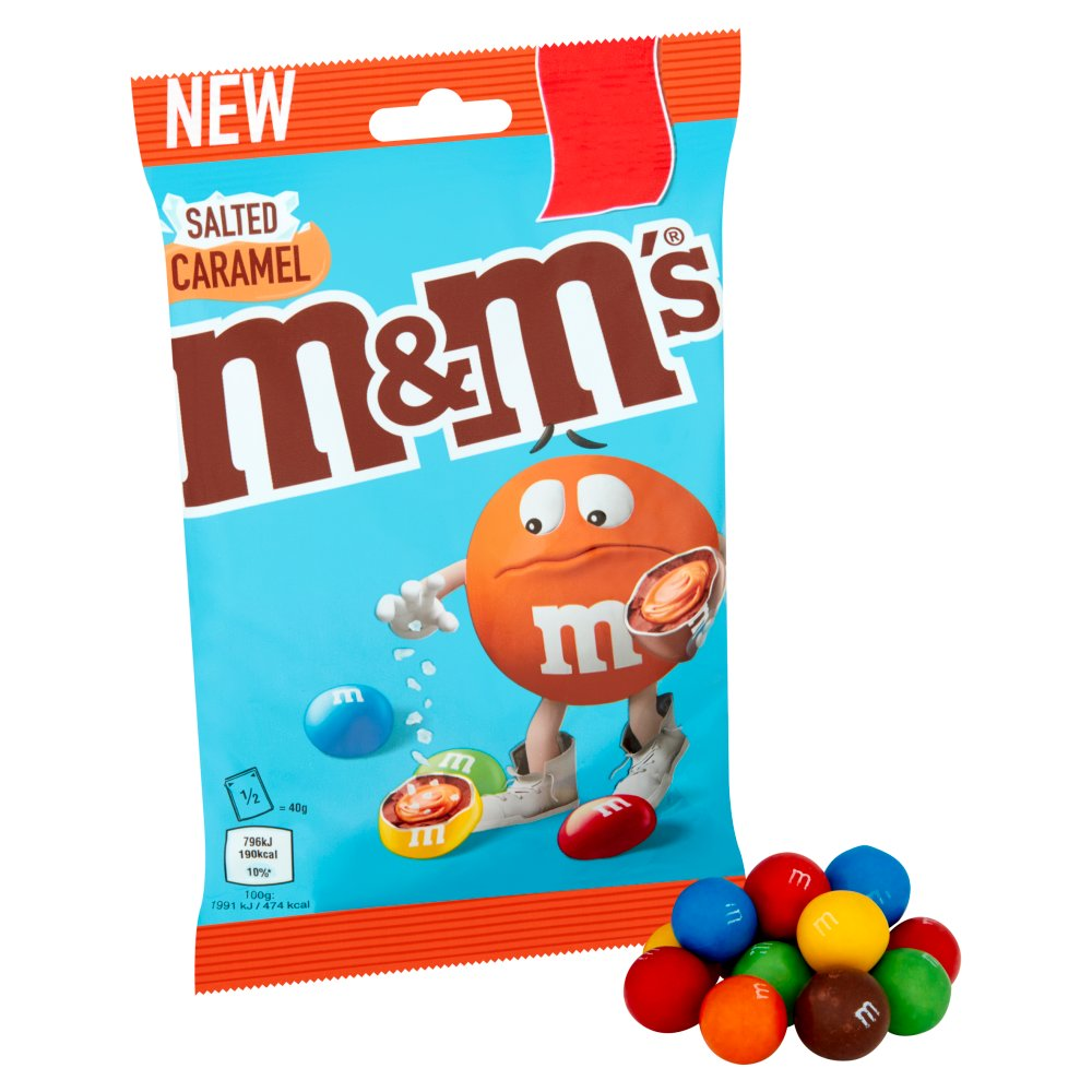 M&M's Salted Caramel Treat Bag, 80g (Box of 16)