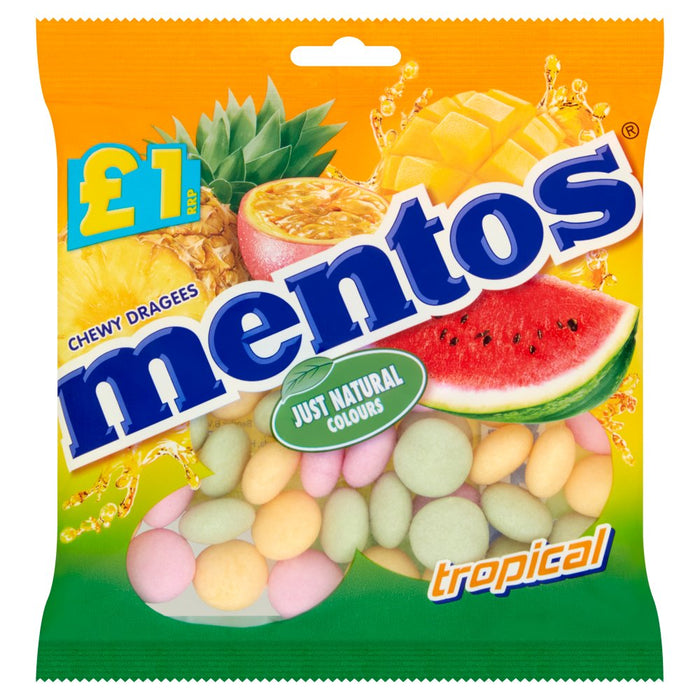 Mentos Tropical Chewy Dragees