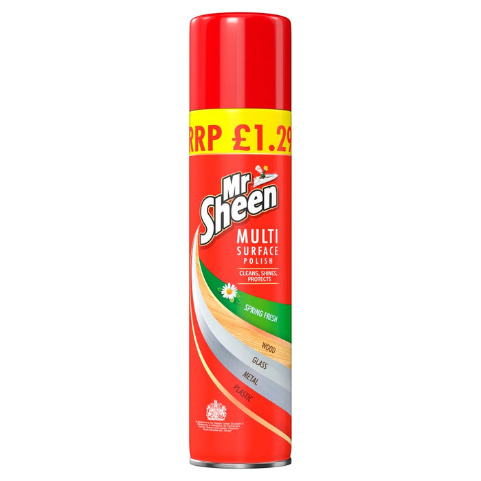 Mr Sheen Multi Surface Polish Spring Fresh, 300ml (Pack of 6)