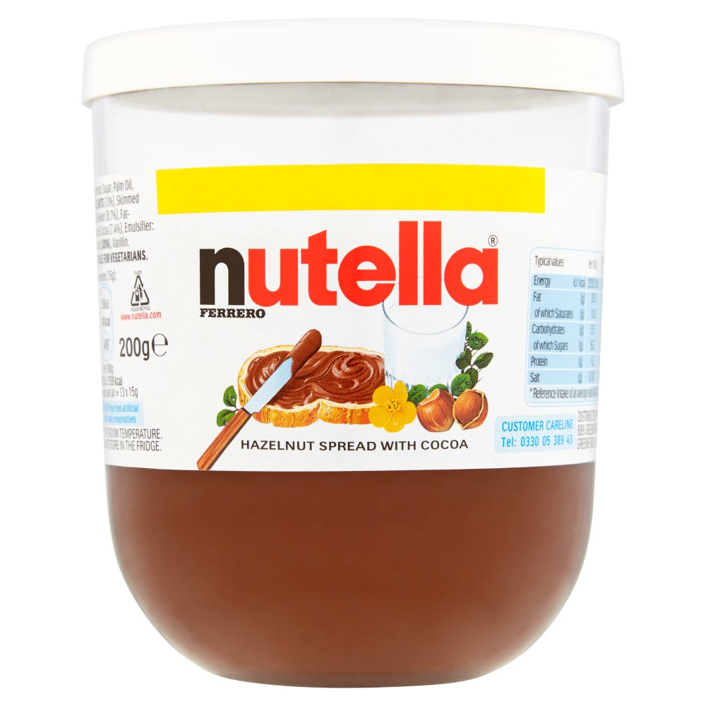 Nutella Hazelnut Chocolate Spread, 200g (Pack of 15)
