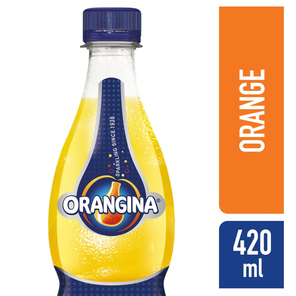 Orangina Sparkling Fruit Drink, 420ml (Case of 12)