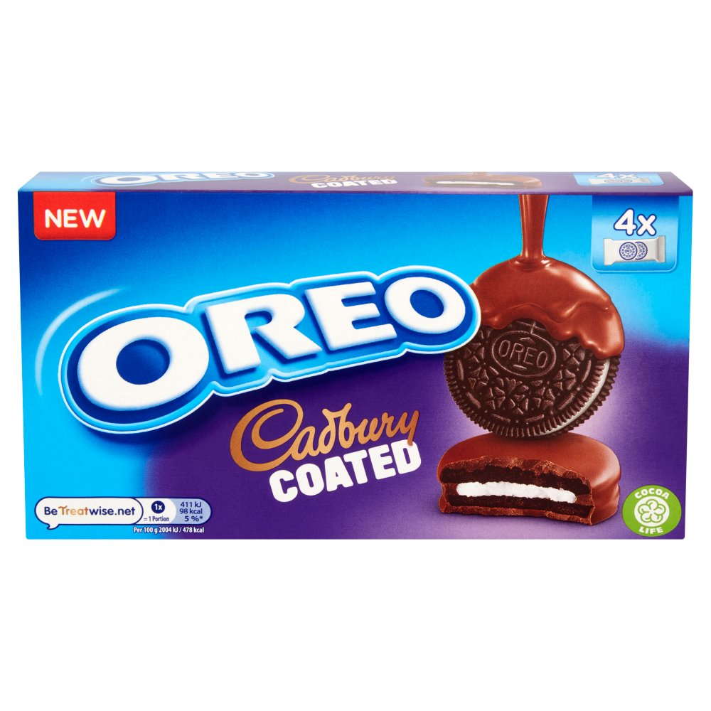 Oreo Cadbury Coated Biscuits, 164g (Box of 8)