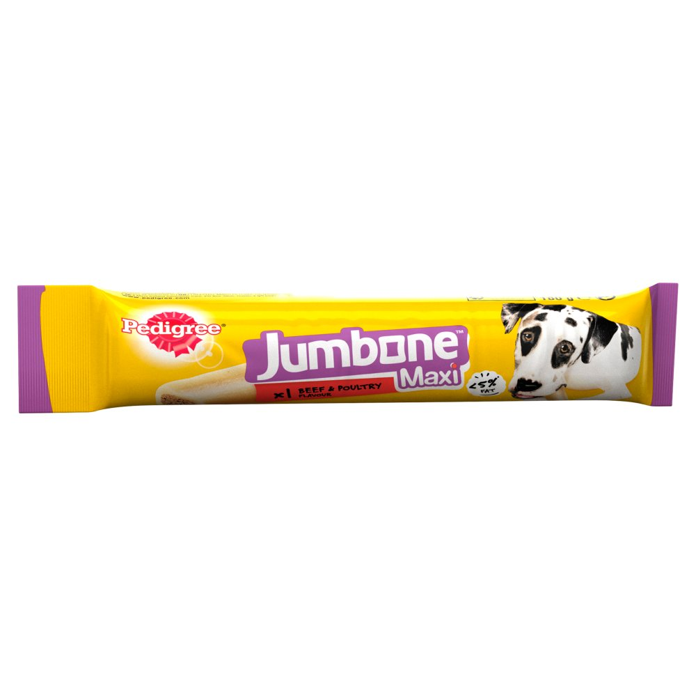 Pedigree Jumbone Large Dog Treat with Beef & Poultry 1 Maxi Chew, 180g (Box of 12)