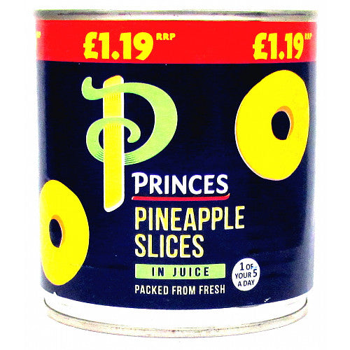 Princes Pineapple Slices in Juice, 432g (Case of 6)