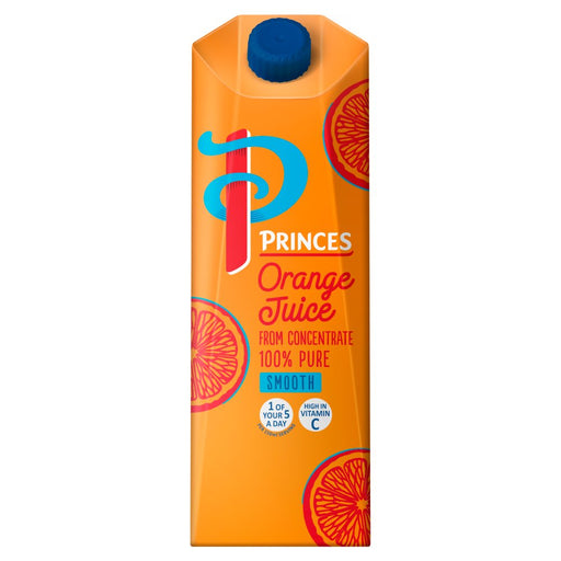 Princes 100% Pure Smooth Orange Juice from Concentrate