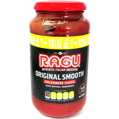Ragu Original Smooth Bolognese, 500g (Case of 6)