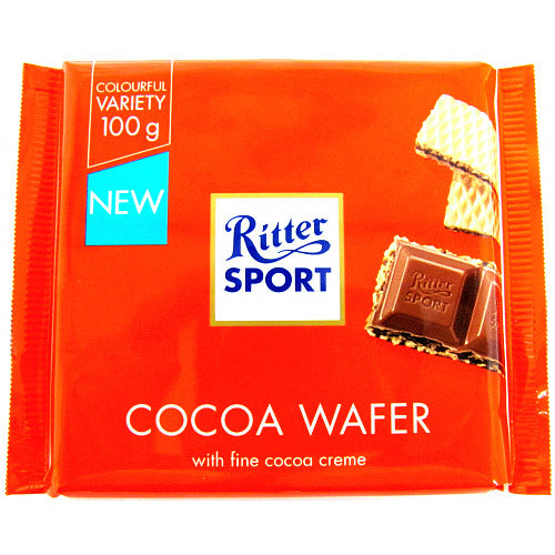 Ritter Sport Cocoa Wafer, 100g (Pack of 5)