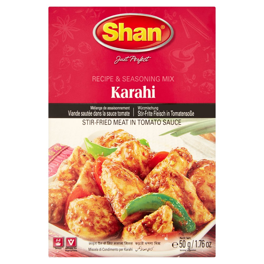 Shan Karahi Recipe & Seasoning Mix, 50g (Pack of 6)