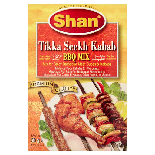 Shan Tikka Seekh Kabab BBQ Mix, 50g (Pack of 6)