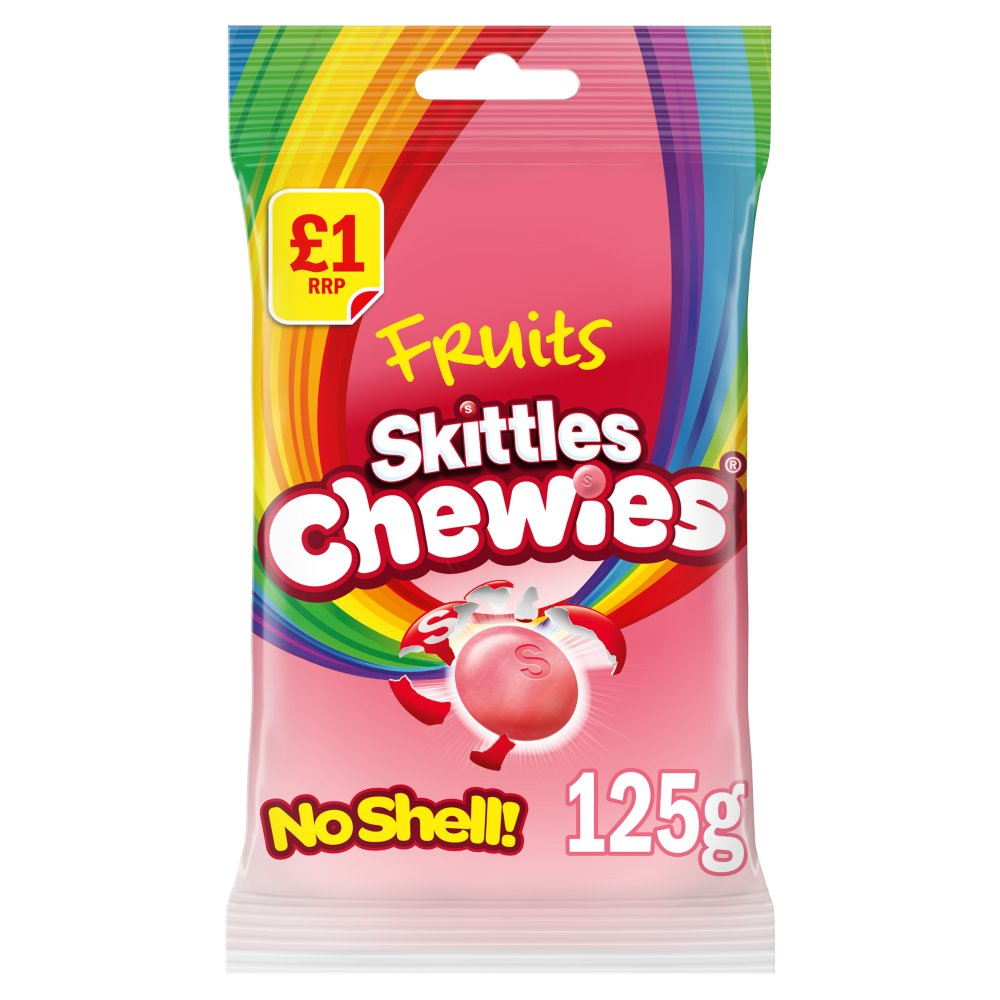 Skittles Chewies Fruits Sweets Treat Bag, 125g (Box of 12)